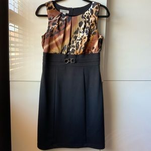 Animal print fitted dress